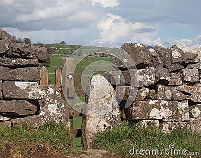 Footpath Stile in Dry Stone Wall