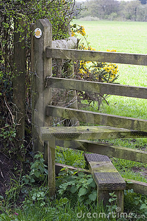 Footpath and stile, UK