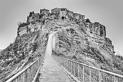 Footpath to Civita di Bagnoregio, Italy.
