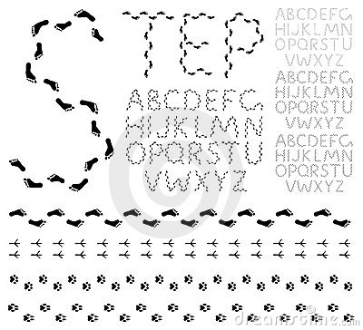 Footprint alphabet