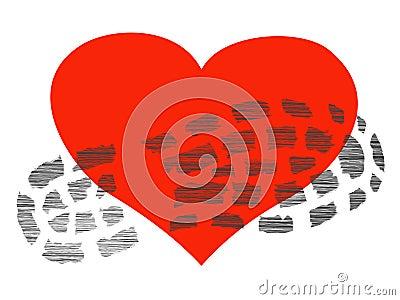 Footprint on the heart