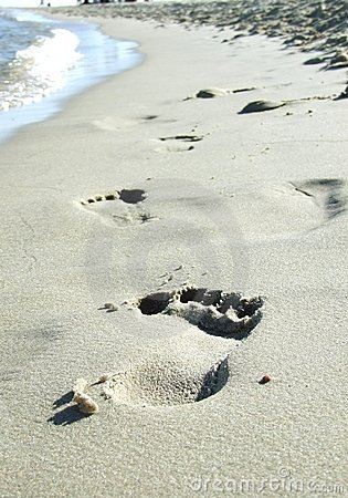 Free Footprint On The Beach Stock Photo - 9247410