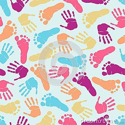 Footprint seamless pattern