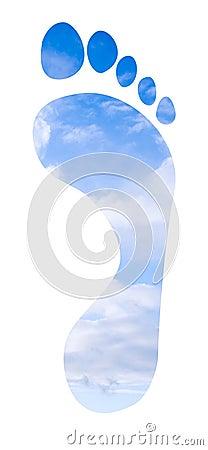 Footprint on the sky