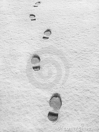 Free Footprints In Fresh Snow Stock Photo - 7316130