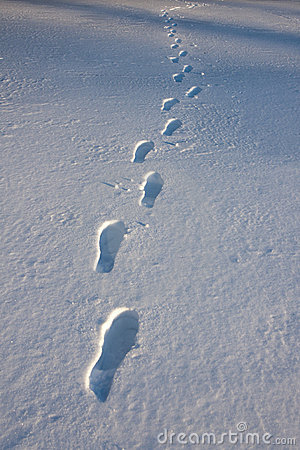 Free Footprints In Snow Royalty Free Stock Images - 19942069