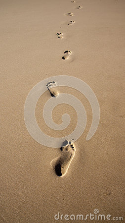 Free Footprints In The Sand Stock Images - 45806724