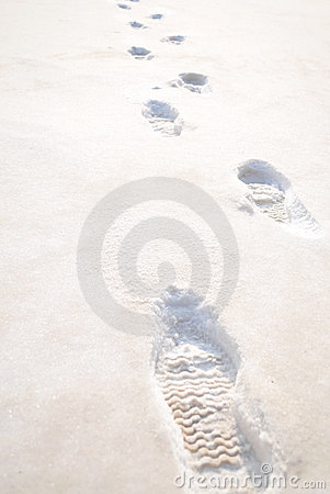 Free Footprints In The Snow Stock Images - 12442484