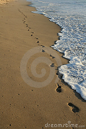 Free Footprints On The Beach Royalty Free Stock Images - 1656209