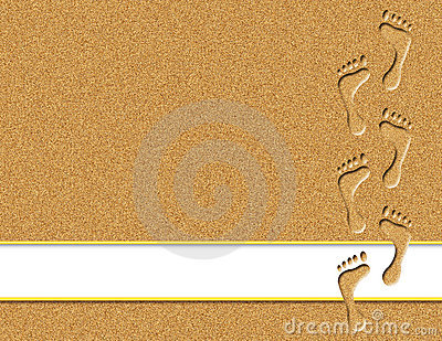 Footprints In The Sand Background Clip Art Cliparts