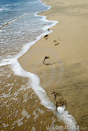 Footprints Washing Away