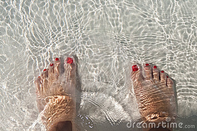 Foots in water