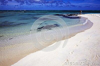 Footstep in ile du cerfs mauritius