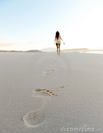 Free Footstep Sand Beach Stock Images - 22774674