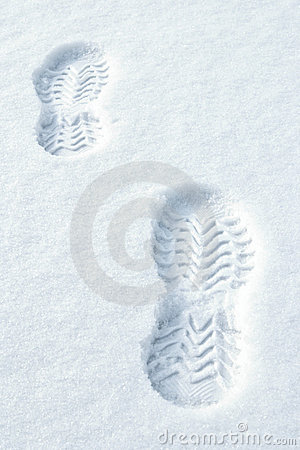 Free Footsteps In Snow Stock Images - 8670744