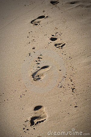 Free Footsteps In The Sand Royalty Free Stock Photos - 1766208