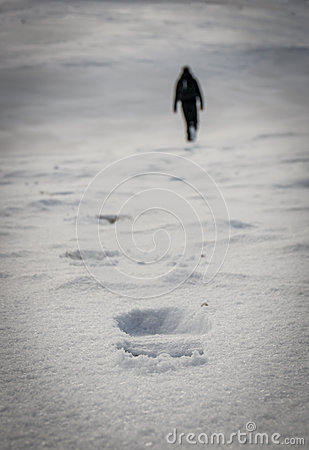 Free Footsteps In The Snow Stock Photos - 47690413