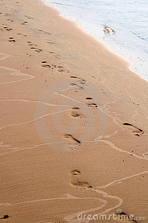 Footsteps on the sand
