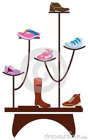 Footwear display