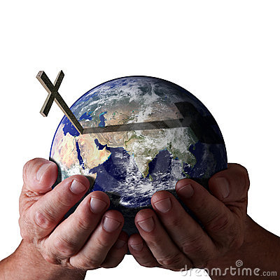 Free For God So Loved The World. Holding In His Hands Stock Photography - 13716752
