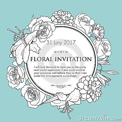 Free Foral Background For Wedding, Birthday, Invitation Stock Photos - 53593843