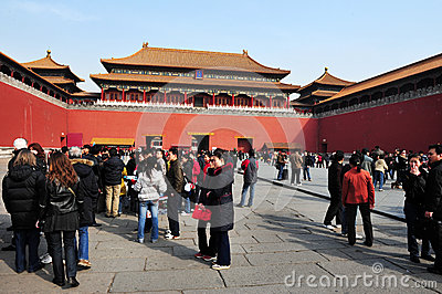 The Forbidden city in Beijing China Editorial Stock Photo