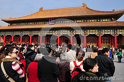 The Forbidden city in Beijing China Editorial Photography