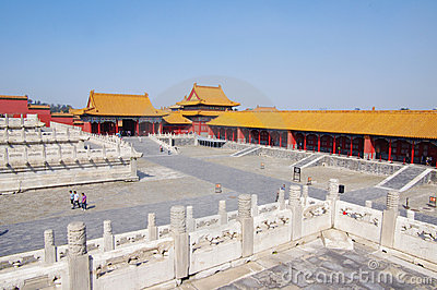Forbidden City Chinese palace in Beijing Editorial Stock Photo