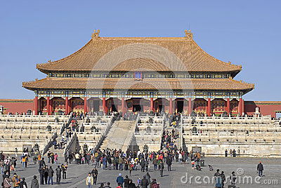 Forbidden City Editorial Editorial Photo