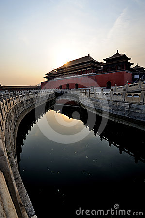 The Forbidden City (Gu Gong) at sunrise