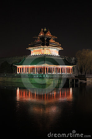 Forbidden city night scene