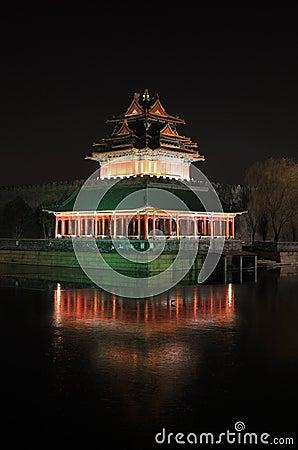Forbidden city night scene