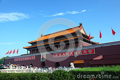 Forbidden City South entrance crowds Editorial Photography