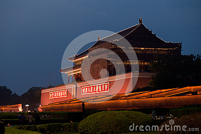 Forbidden City southern gate Editorial Photography