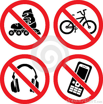 Free Forbidding Vector Signs Stock Photo - 17379700