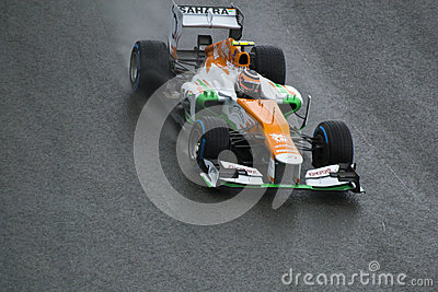 Force India F1 Editorial Photo