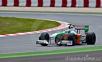 Force India VJM02 Editorial Stock Image