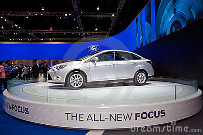 Ford the all new focus car Editorial Stock Photo