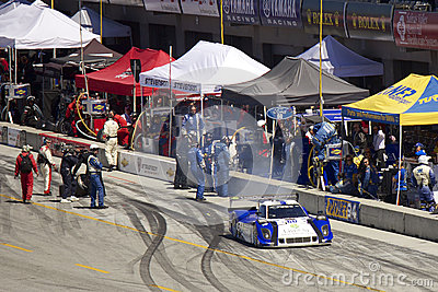 Ford Can-Am leaves pit stop - Grand AM Rolex Races Editorial Image