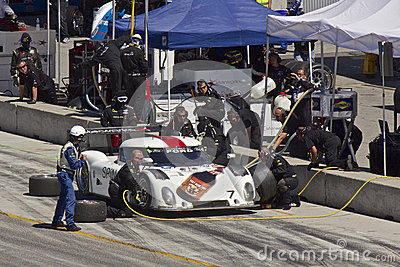 Ford Can-Am at pit stop at Grand AM Rolex Races Editorial Stock Photo