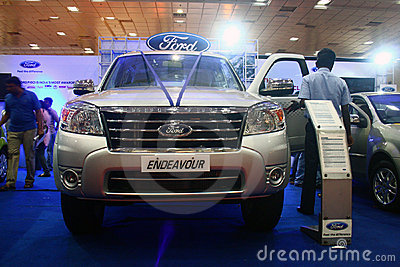 Ford Endeavour SUV at Auto World Expo 2011 Editorial Image