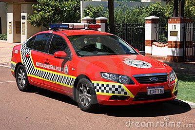 Ford Falcon police car Editorial Photography