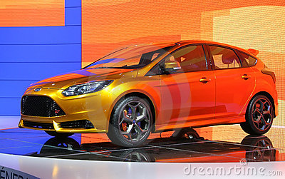 Ford Focus ST Concept at Paris Motor Show Editorial Photography