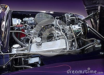1950 Ford Mercury engine Editorial Photo