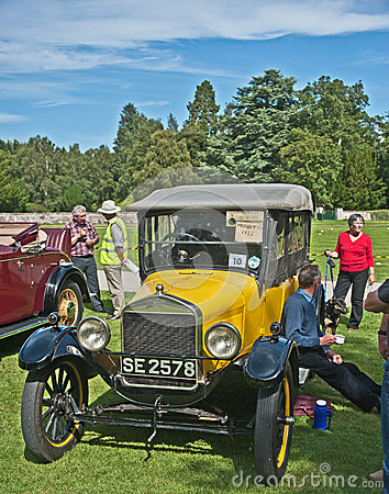 Ford model T opentop car at Brodie Castle. Editorial Image
