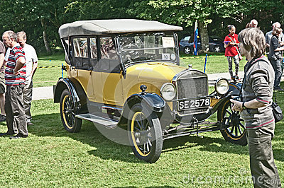 Ford model T opentop car at Brodie Castle. Editorial Stock Photo