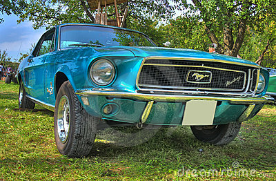 Ford Mustang HDR Editorial Stock Photo