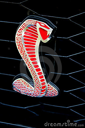 Ford Mustang Shelby Cobra emblem Editorial Photography