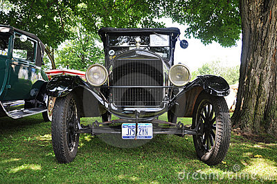 Ford T in Antique Car Show Editorial Stock Image
