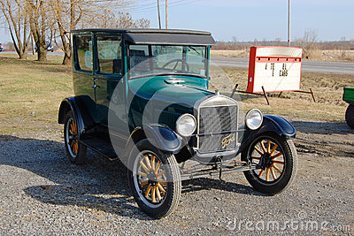Ford T Model in Antique Car Show Editorial Stock Photo